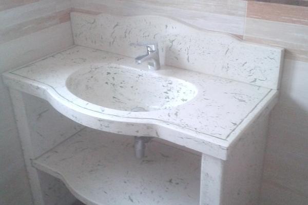 Lavabo effetto marmo
