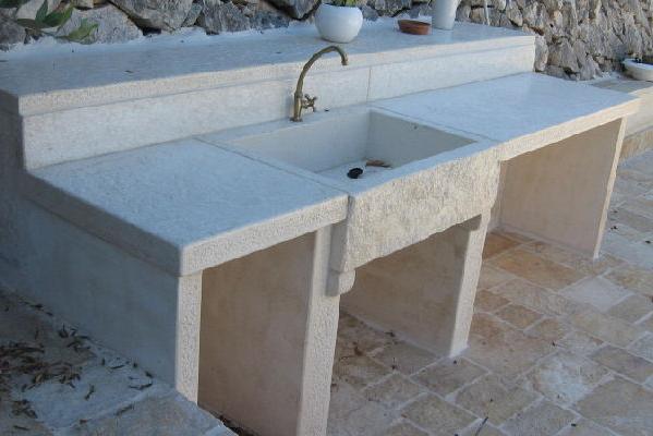 Lavandino effetto pietra